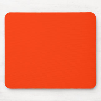 Solid Red Background Web Color FF3300 Mouse Pad