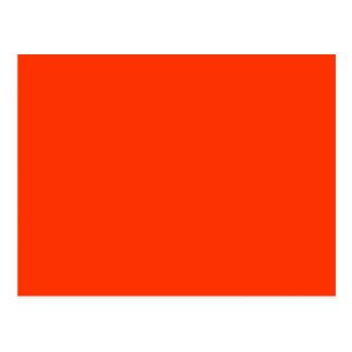 Solid Red Background Web Color FF3300 Post Card