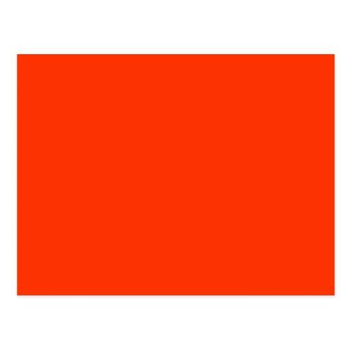 Solid Red Background Web Color FF3300 Postcard