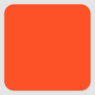 Solid Red Background Web Color FF3300 Square Sticker