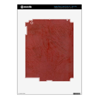 Solid Red Decal For iPad 3