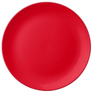 Solid Red Dinner Plate