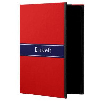 Solid Red, Navy Blue Ribbon Name Monogram Powis iPad Air 2 Case