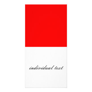 solid RED Photo Card