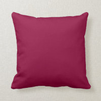 Solid Red Wine Throw Pillows