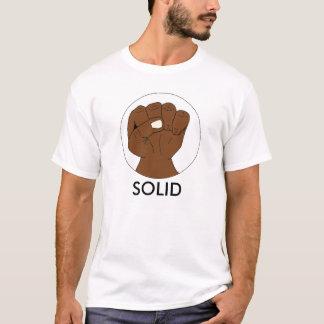 Solid Retro Black Pride Fist on White T-Shirt