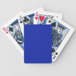 Solid Royal Blue Playing Cards