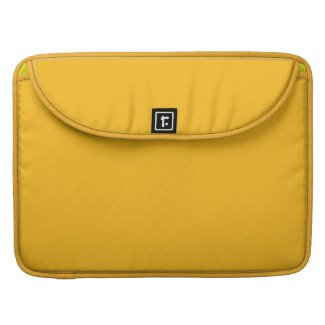 Solid Saffron Yellow Sleeve For MacBook Pro