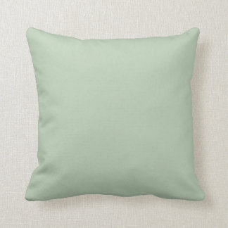 Solid Sage Green Accent Throw Pillow