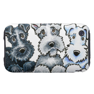 Solid Schnauzers iPhone 3 Tough Covers