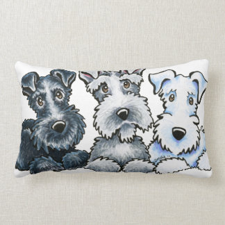 Solid Schnauzers Throw Pillow