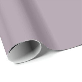 Solid Sea Fog Purple Gift Wrap Paper