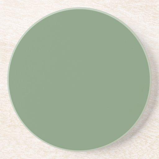 Solid Series---Gray-Green coaster