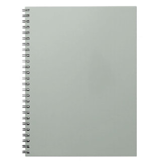 Solid Silver Gray Notepad Notebook