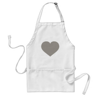 Solid silver heart adult apron