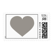 Solid silver heart postage