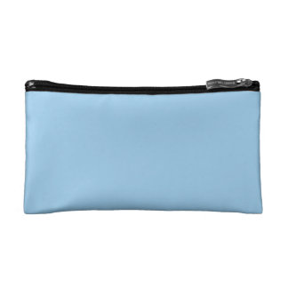 Solid Sky Blue Cosmetic Bag
