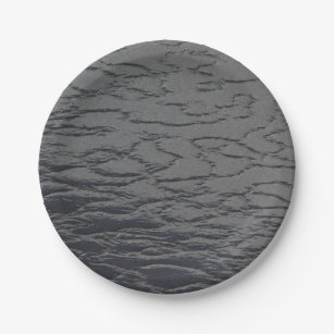 Solid Slate Gray Paper Plate  sc 1 st  Zazzle : gray paper plates - pezcame.com