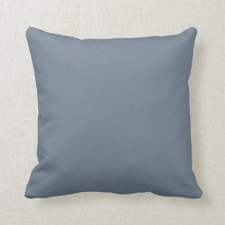 Solid Slate Gray Throw Pillows