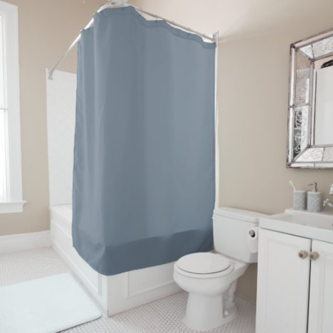 Solid Slate Grey Shower Curtain