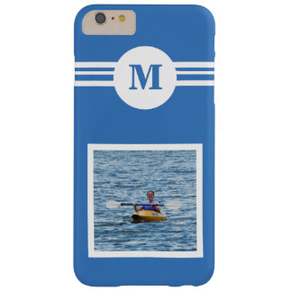 Solid Soft Sky Blue custom monogram, add photo Barely There iPhone 6 Plus Case