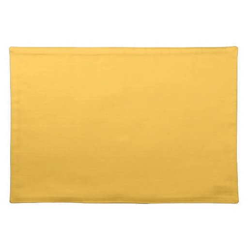 Solid Solar Yellow Table Mat Cloth Place Zazzle