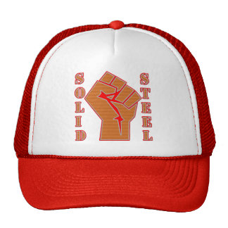 Solid Steel and Clenched Fist Trucker Hat