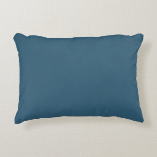 Solid Steel Blue Decorative Pillow