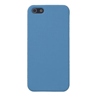 Solid Steel Blue iPhone 5 Cases