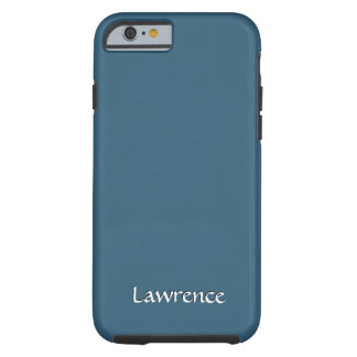 Solid Steel Blue Personalized Tough iPhone 6 Case