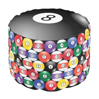 Solid, Stripe, #8 Ball Billiards Pouf