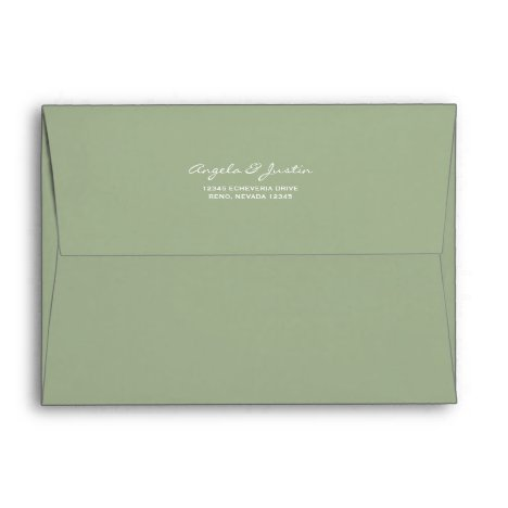 Solid Succulent Sage Green Envelope