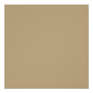 Solid Tallahassee Beige color Perfect Poster