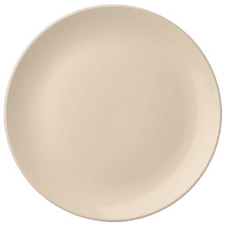 Solid Tan Dinner Plate