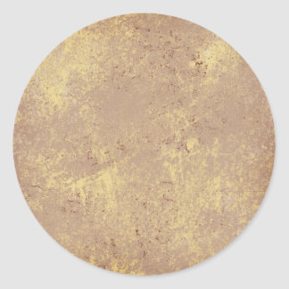 solid-TAN GRUNGE SOLID MARBLE TAN NEUTRAL CREAM CR Classic Round Sticker
