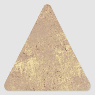 solid-TAN GRUNGE SOLID MARBLE TAN NEUTRAL CREAM CR Triangle Sticker