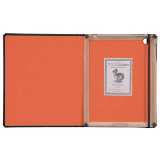 Solid Tangerine Tango Covers For iPad
