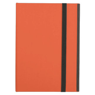 Solid Tangerine Tango iPad Folio Cases