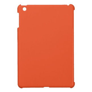 Solid Tangerine Tango iPad Mini Cases