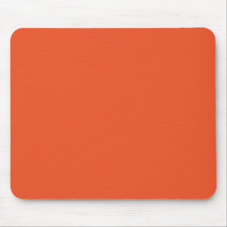 Solid Tangerine Tango Mouse Pad