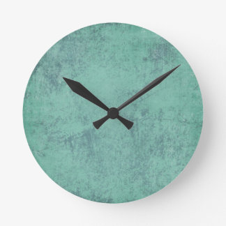 solid_teal CONCRETE SOLID TEAL TEXTURE TEMPLATE BA Round Clock