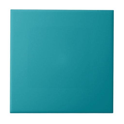Solid Teal Green Ceramic Tile