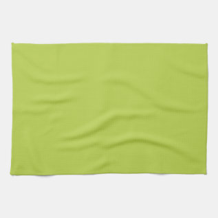 Solid Tender Shoots Green Kitchen Towel at Zazzle
