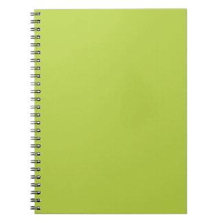 Solid Tender Shoots Green Notepad Spiral Notebook