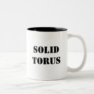 Solid Torus Two-Tone Coffee Mug
