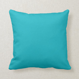 Solid Turquoise Blue Peacock Custom Pillow