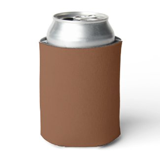 Solid Umber Brown Can Cooler