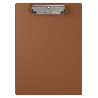 Solid Umber Brown Clipboards