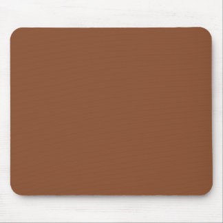 Solid Umber Brown Mouse Pad