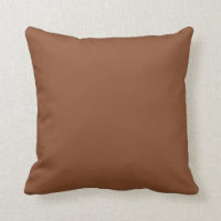 Solid Umber Brown Throw Pillow